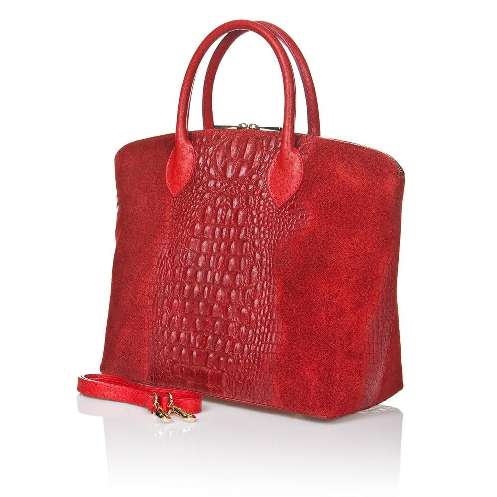 02af07908 Červená semišová kabelka Giorgio Costa Candace | Bonami