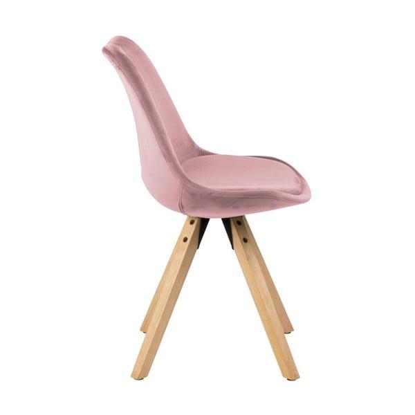 Sada 2 ružových jedálenských stoličiek Actona Damia Velvet