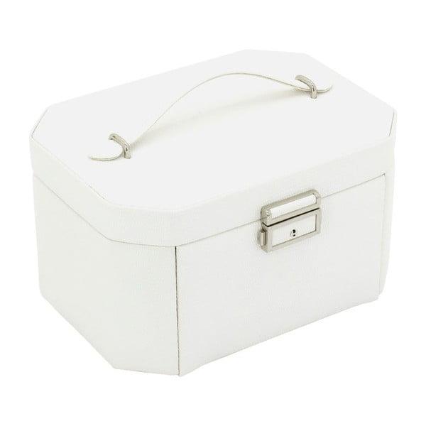 Šperkovnica Candy White, 20,5x15x11,5 cm