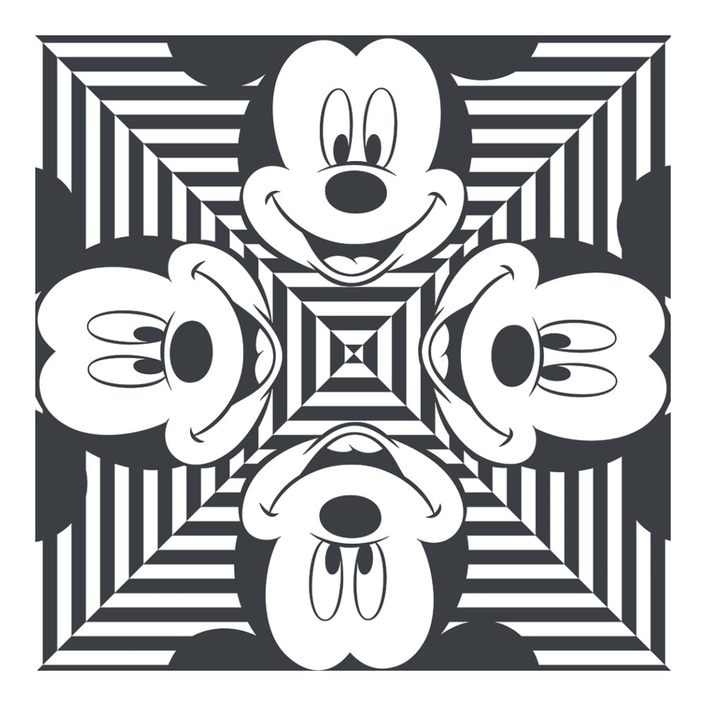 Obraz Pyramid International Mickey Mouse Stripes Squres, 40 × 40 cm
