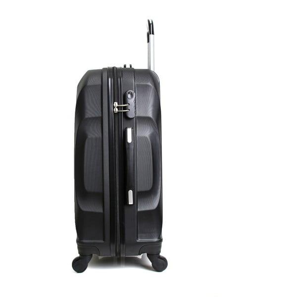 Čierny cestovný kufor na kolieskach Hero Moscou-e, 30l