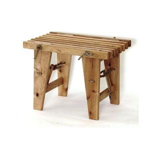 Lavička z jelšového dreva EcoFurn, dĺžka 60 cm