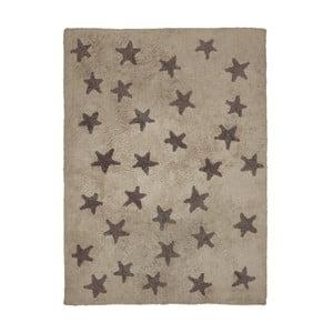 Béžový bavlnený ručne vyrobený koberec Lorena Canals Messy Stars, 120 x 160 cm