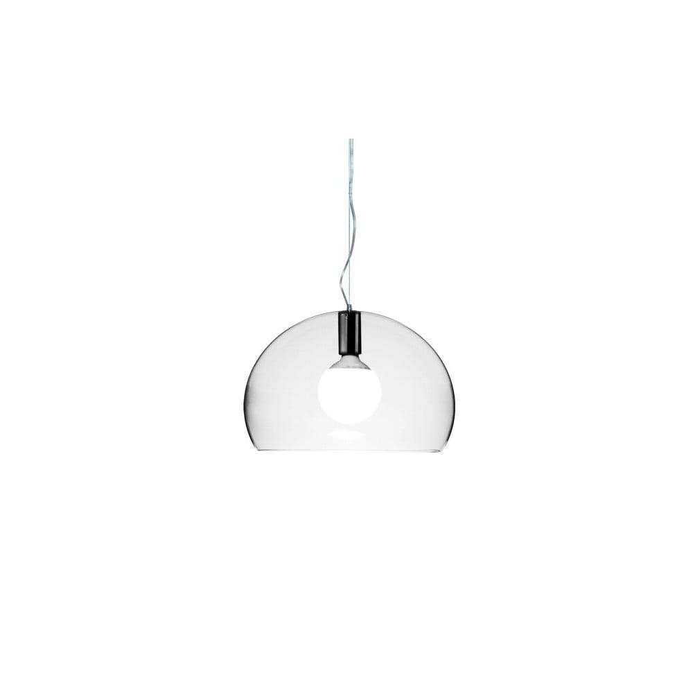 Transparentné stropné svietidlo Kartell Fly, ⌀ 38 cm
