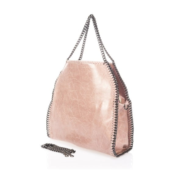 Kožená kabelka Mhairi, ružová
