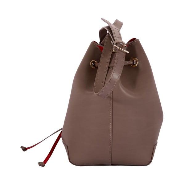 Kožená kabelka Andrea Cardone 3027 Taupe