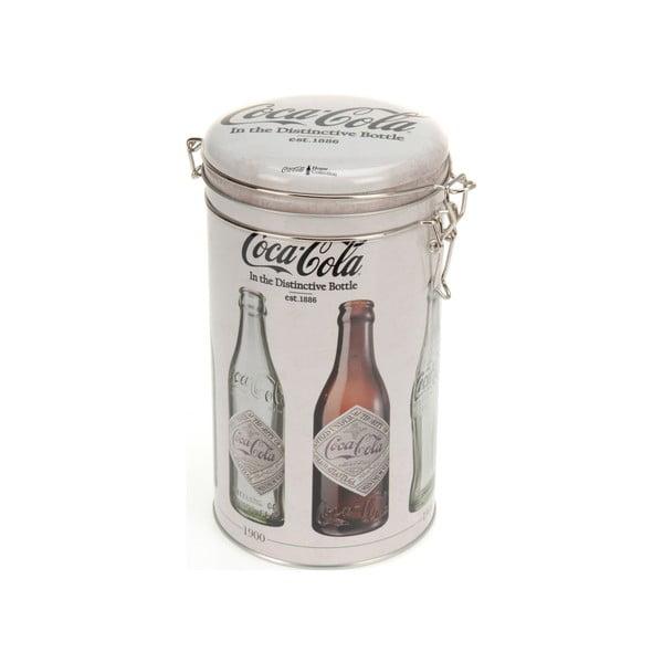 Kruhová kovová dóza s uzáverom Postershop Coke