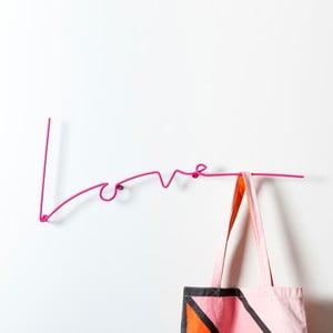 Vešiak Love Coat, ružový