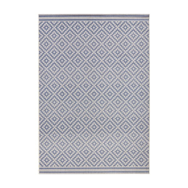 Modrý koberec Bougari vhodný aj do exteriéru Raute, 200x290cm