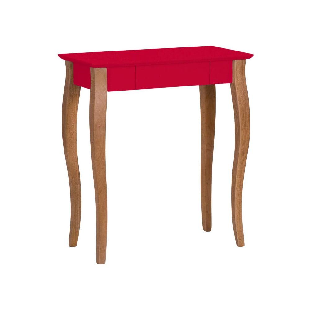 Červený písací stôl Ragaba Lillo, šírka 65 cm