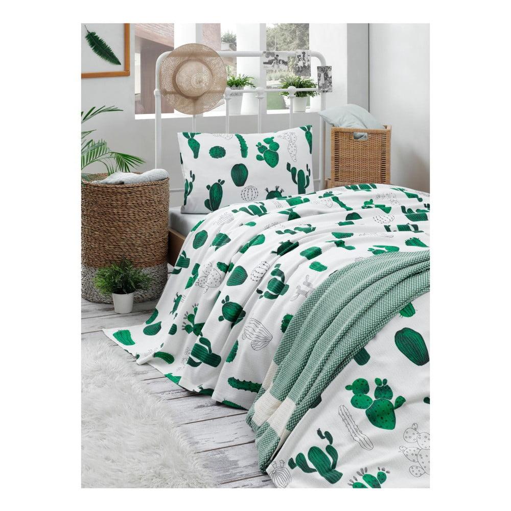 Set bavlnenej ľahkej prikrývky cez posteľ, plachty a obliečky na vankúš Missmo Larissa, 160 × 235 cm
