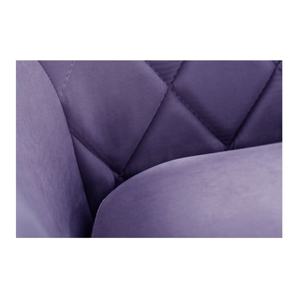 Pohovka pre troch Diva Criss Cross Dark Purple