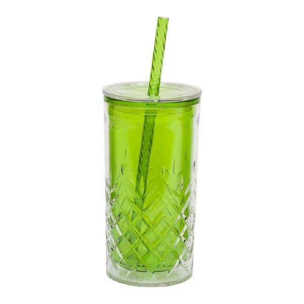 Zelený pohárik so slamkou Aladdin, 470ml