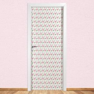 Samolepka na dvere LineArtistica Flamingo, 80×215cm