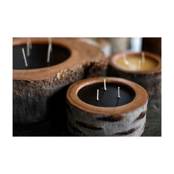 Palmová sviečka Legno Dark s vôňou včelieho vosku, 40 hodín horenia