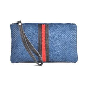 Modrá kožená listová kabelka Mangotti Bags Studo