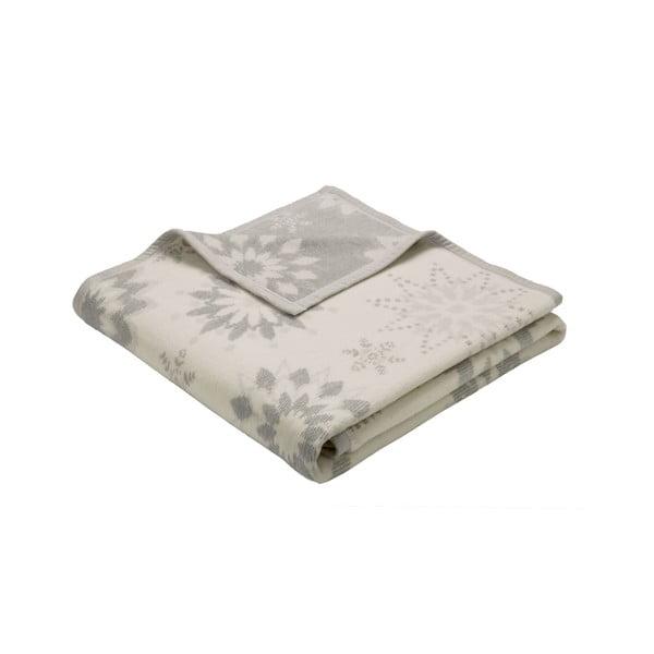 Deka Winterblumen Silver, 150x200 cm