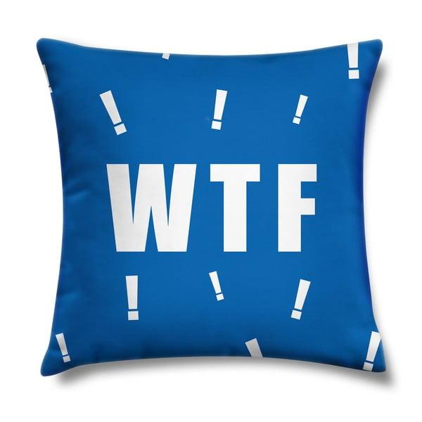 Vankúš WTF Blue, 43x43 cm