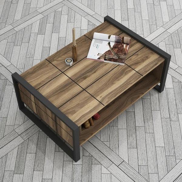 Odkladací stolík v orechovom dekore Lost