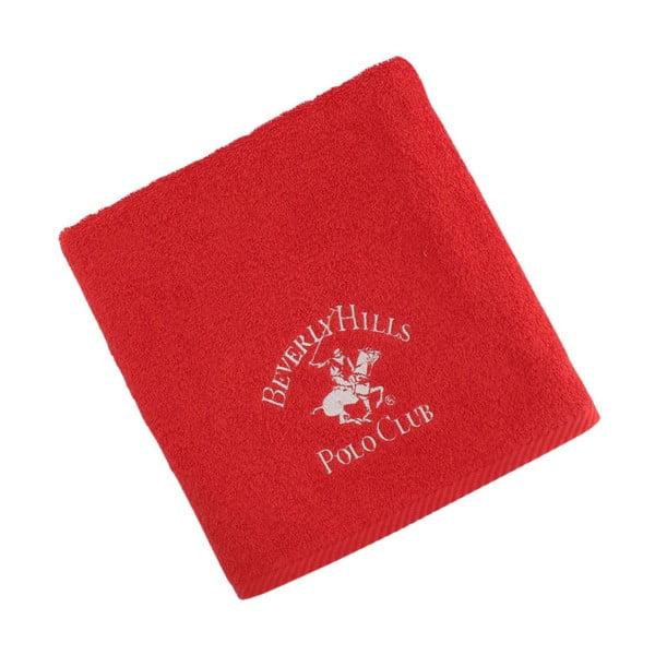 Červený bavlnený uterák BHPC, 50x100cm