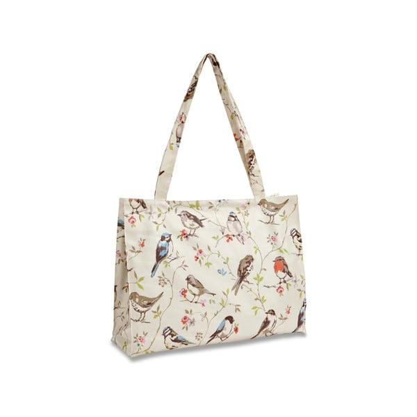 Nákupná taška na rameno z bavlny Cooksmart England Dawn Chorus, 40x30cm