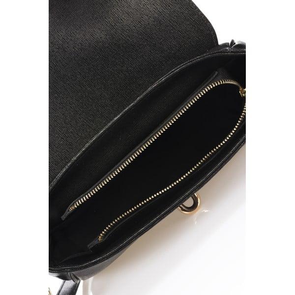 Čierna kožená kabelka Markes Modesto