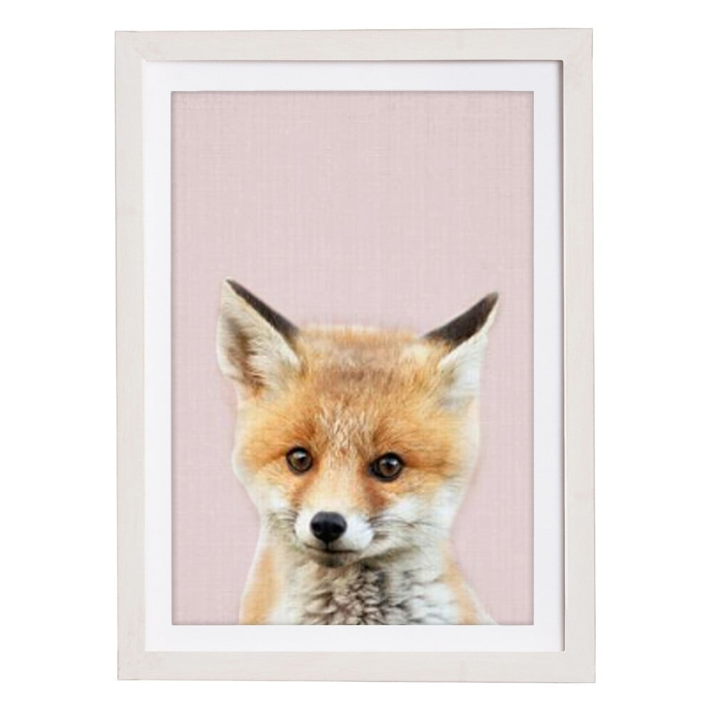 Nástenný obraz v ráme Querido Bestiario Baby Fox, 30 x 40 cm