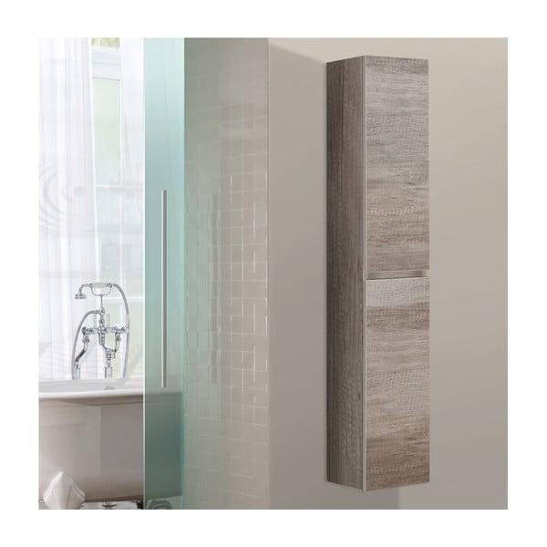 Kúpeľňová závesná skrinka Column, dekor dubu