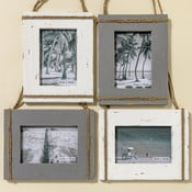 Sada 4 nástenných fotorámikov z jedľového dreva Boltze Lovro, na fotografiu 10 x 15 cm