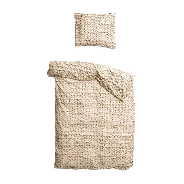 Béžové obliečky Snurk Twirre,140x200cm