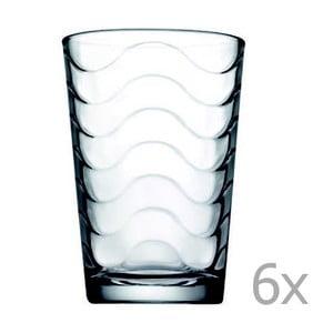 Sada 6 pohárov Paşabahçe Waves, 200ml