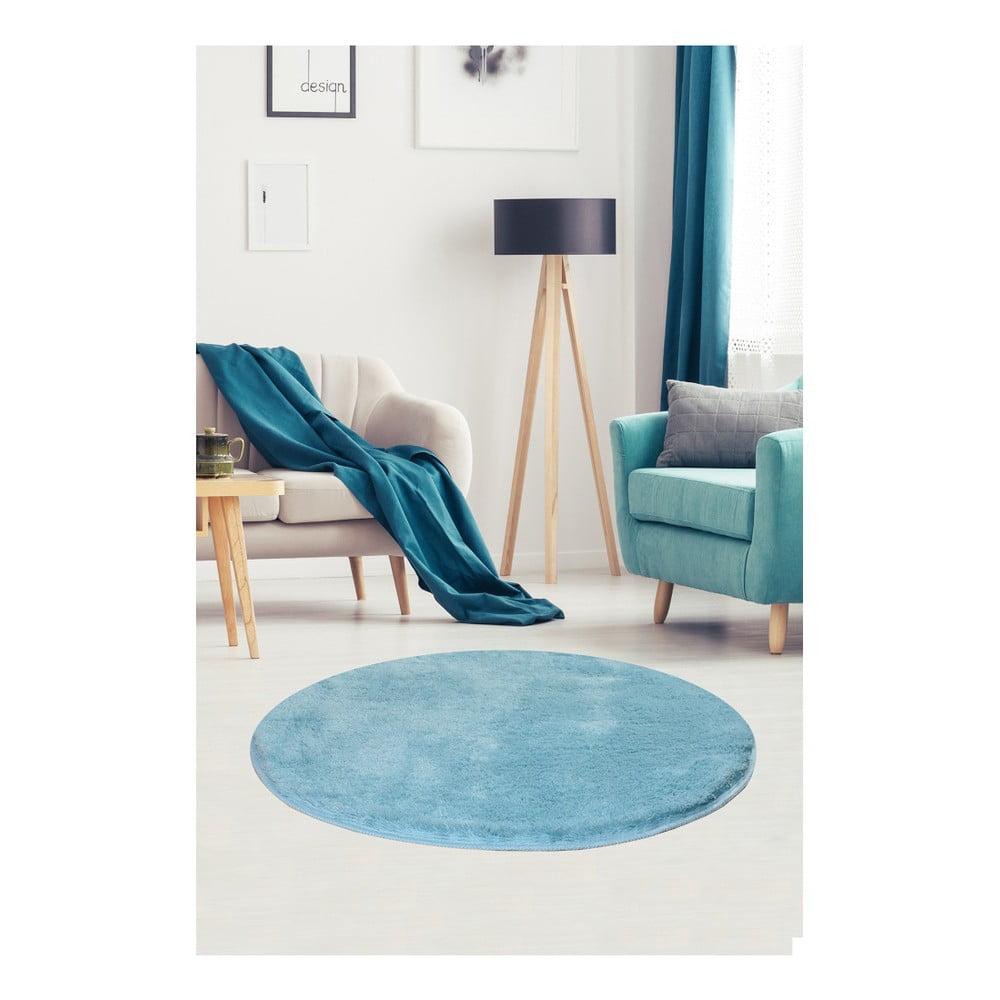 Svetlomodrý koberec Milano, ⌀ 90 cm