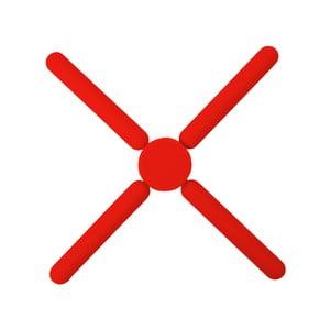 Skladacia silikónová ochranná podložka pod hrniec Dexam SOW Trivet