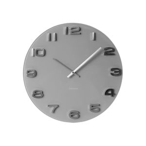 Sivé hodiny Present Time Vintage Glass