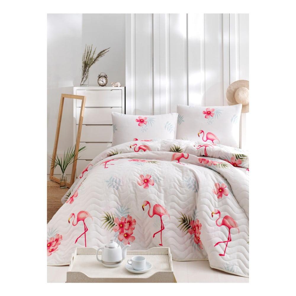 Set bavlnenej prikrývky cez posteľ a obliečky na vankúš Lura Lolito, 160 × 220 cm
