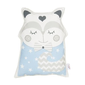 Modrý detský vankúšik s prímesou bavlny Apolena Pillow Toy Smart Cat, 23 x 33 cm