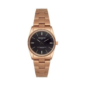 Unisex hodinky zlatej farby s čiernym ciferníkom Zadig & Voltaire