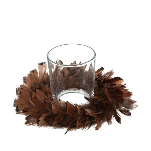 Dekorácia na stôl J-Line Feathers Wreah