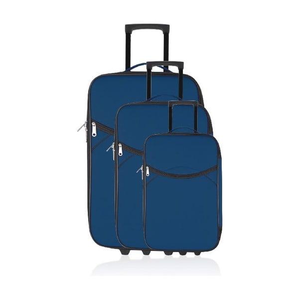 Set 3 cestovných kufrov Classic Blue