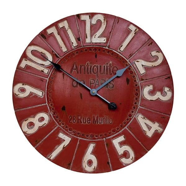 Červené nástenné hodiny Clayre & Eef