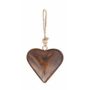 Závesná dekorácia v tvare srdca Antic Line, 27 cm
