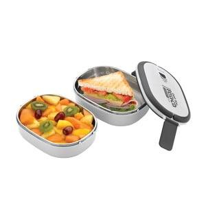 Biela dvojitá miska na obed Pioneer Lunchbox