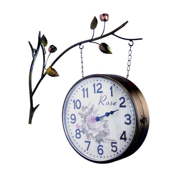 Obojstranné závesné hodiny Clock Station