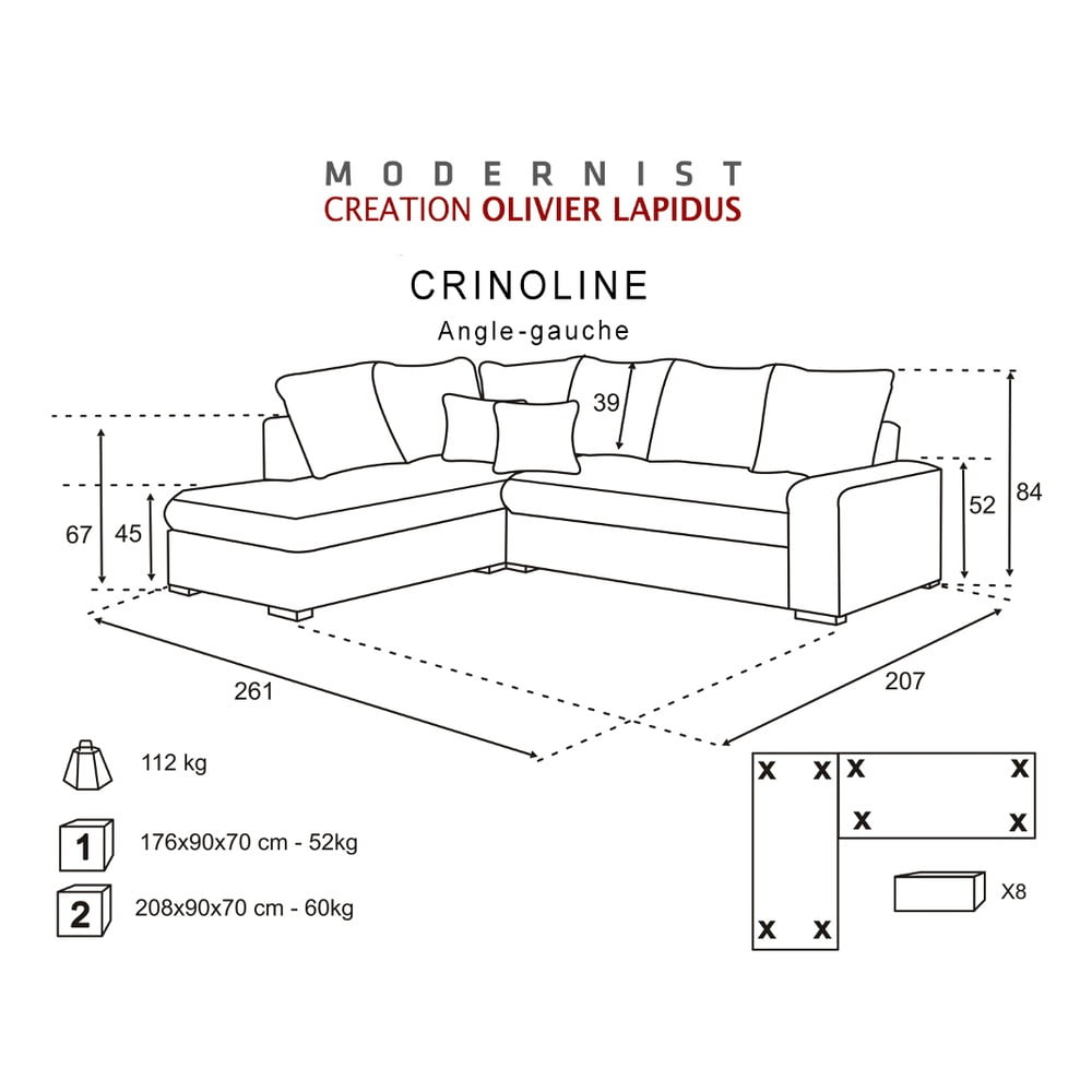 ierno ru ov pohovka modernist crinoline av roh bonami. Black Bedroom Furniture Sets. Home Design Ideas