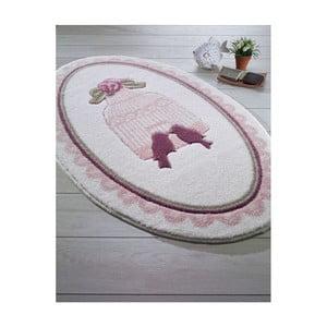 Kúpeľňová predložka Confetti Bathmats Birdcage Pink, 66 x 53 cm