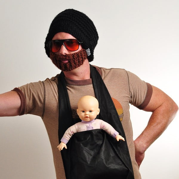 Čierna čiapka s odopínateľnou bradou Beardo Original