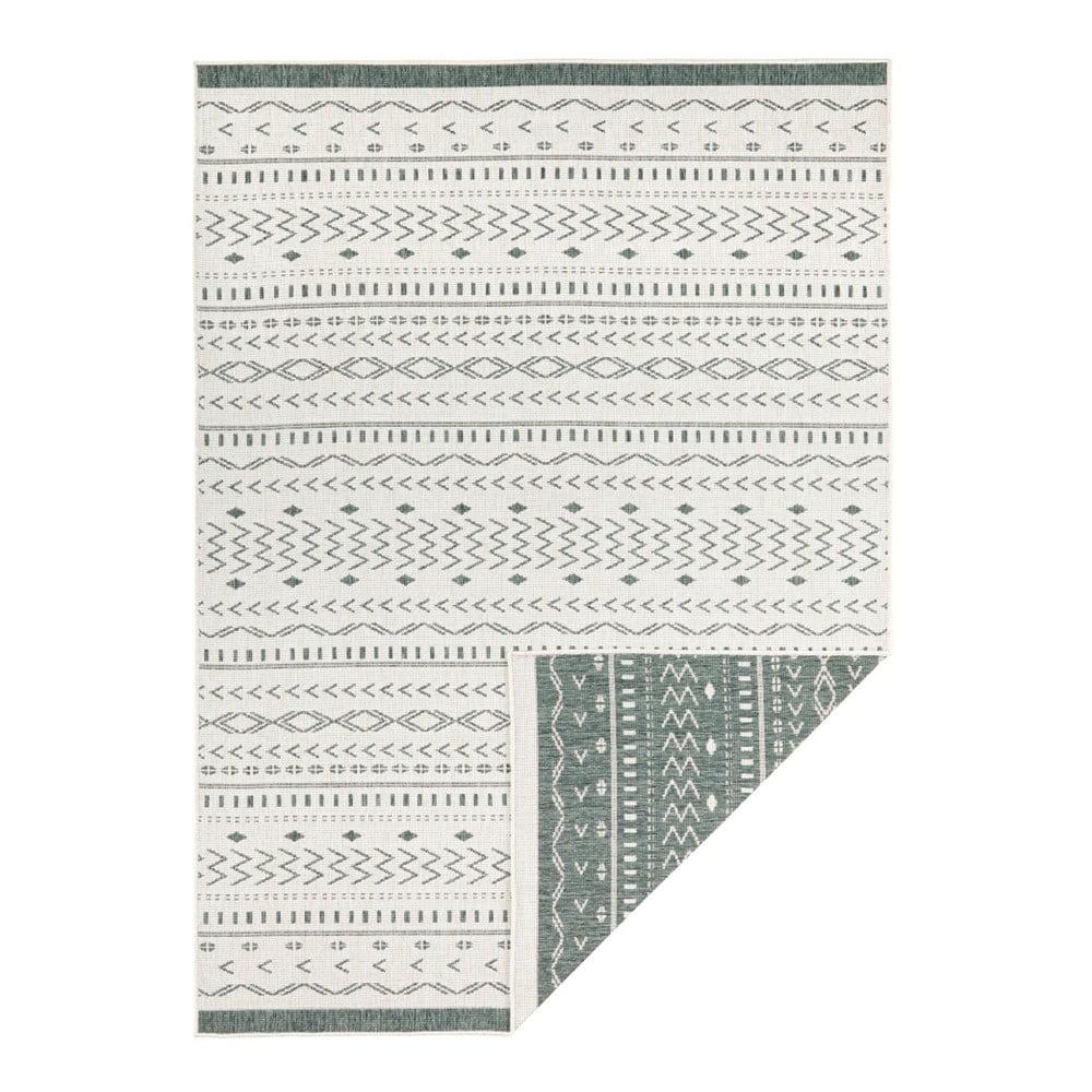Zeleno-krémový vonkajší koberec Bougari Kuba, 230 x 160 cm