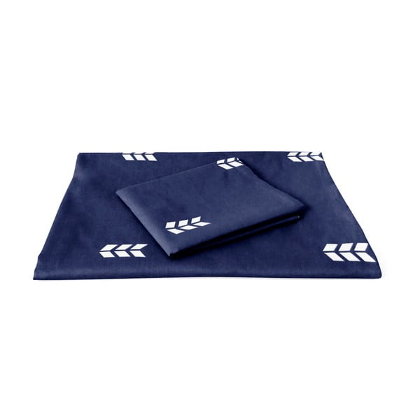 Modré obliečky Hawke&Thorn Finch Straw, 150 x 200 cm + vankúš 50 x 60 cm