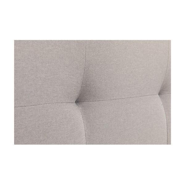 Sivá dvojlôžková posteľ Chez Ro Skagen, 180×200 cm