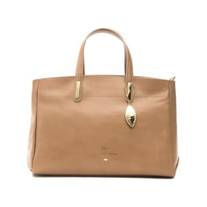 Béžová kožená kabelka f.e.v. by Francesca E. Versace Rastuna